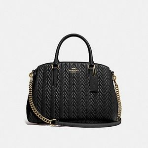COACH SAGE CARRYALL WITH QUILTING BLACK